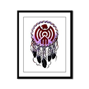 Native American Dreamcatcher Framed Panel Print