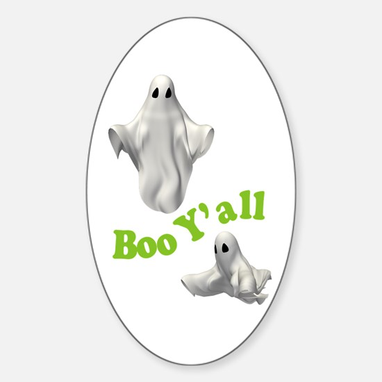 BOO Y'ALL Oval Decal