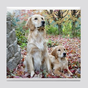 Golden Retrievers Tile Coaster