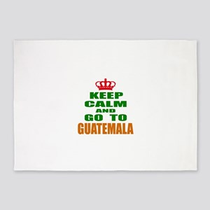 Keep Calm And Go To Guatemala Count 5'x7'Area Rug