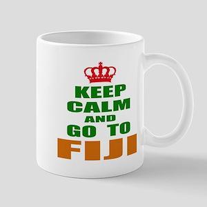 Keep Calm And Go To Fiji Country 11 oz Ceramic Mug