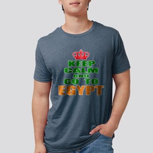 Keep Calm And Go To Egypt C Mens Tri-blend T-Shirt