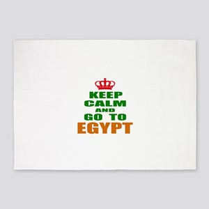 Keep Calm And Go To Egypt Country 5'x7'Area Rug
