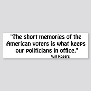 Politicians Bumper Sticker
