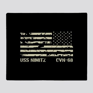 USS Nimitz Throw Blanket