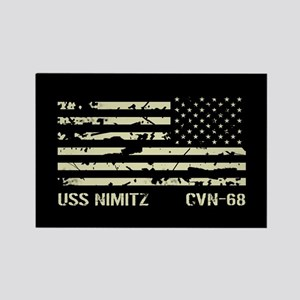 USS Nimitz Rectangle Magnet