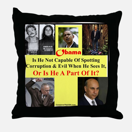 """""""Bad Judgement Or Evil?"""" Throw Pillow"""
