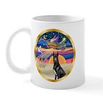 XmasStar/ Gr Dane (blk) Mug