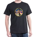 XmasStar/ Gr Dane (blk) Dark T-Shirt