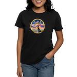 XmasStar/ Gr Dane (blk) Women's Dark T-Shirt