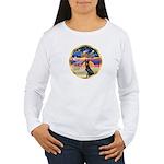 XmasStar/ Gr Dane (blk) Women's Long Sleeve T-Shir