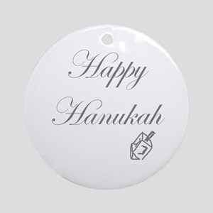 Happy Hanukah Dreidel Ornament (Round)