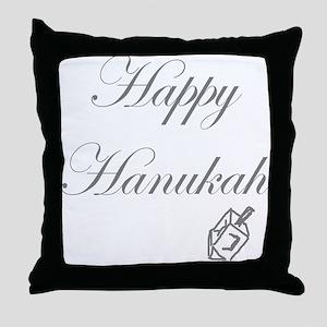Happy Hanukah Dreidel Throw Pillow