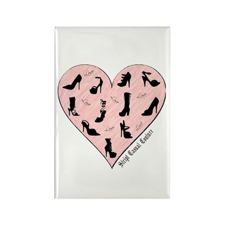 Pink Shoe Heart Rectangle Magnet