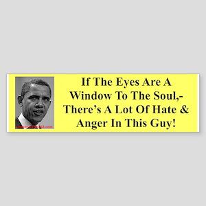 """""""Eyes, Hate, Anger"""" Bumper Sticker"""