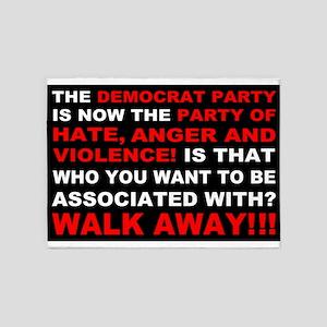 Democrat Party Walk Away 5'x7'Area Rug