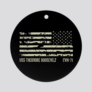 USS Theodore Roosevelt Round Ornament