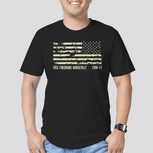 USS Theodore Roosevelt Men's Fitted T-Shirt (dark)