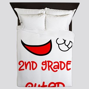 2nd Grade Just Got A Lot Cuter First D Queen Duvet