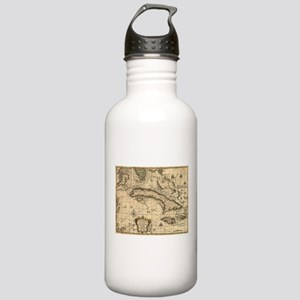 Vintage Map of Cuba (1 Stainless Water Bottle 1.0L