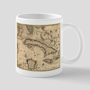 Vintage Map of Cuba (1762) Mugs