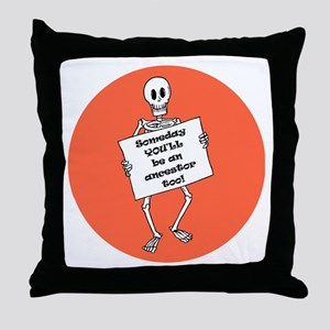 Genealogy Halloween<br> Throw Pillow