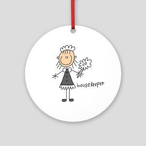 Housekeeper Ornament (Round)