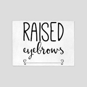 raised eyebrows 5'x7'Area Rug