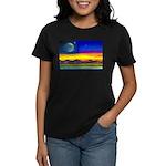 new world flag w/ flower.o.li Women's Dark T-Shirt