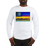 new world flag w/ flower.o.li Long Sleeve T-Shirt