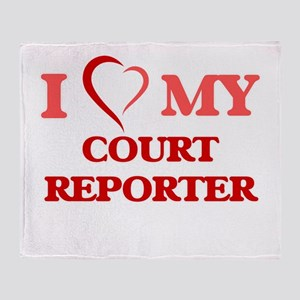 I love my Court Reporter Throw Blanket