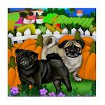 Pug Dogs Halloween Tile Coaster