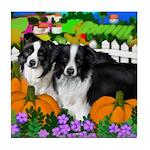 BORDER COLLIE Dogs Halloween Tile Coaster