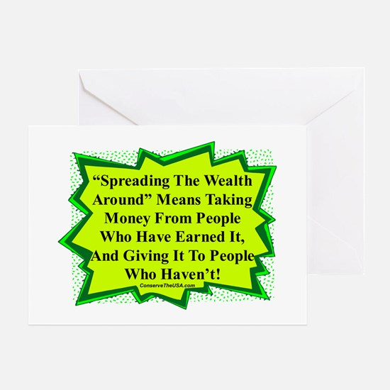 """""""Spread The Wealth"""" Greeting Card"""