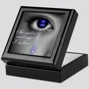 She smiles and says I'm fine Keepsake Box