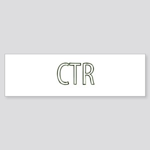 CTR - Choose the Right Bumper Sticker