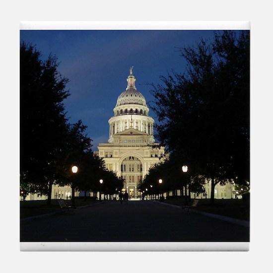 Austin Texas Capitol Tile Coaster