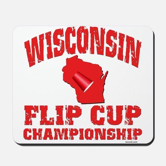 Wisconsin Flip Cup Mousepad