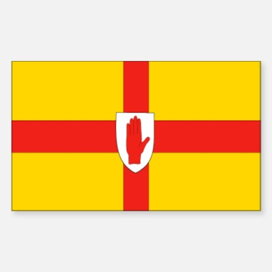 """""""Ulster Provincial Flag"""" Rectangle Decal"""