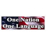 One Nation One Language - Bumper Sticker