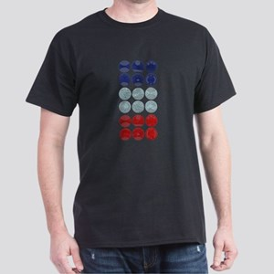 Abstract Circles Dark T-Shirt