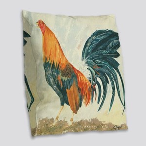 Something to Crow About Burlap Throw Pillow
