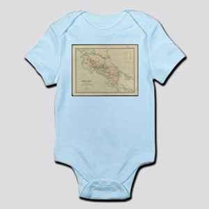 Vintage Map of Costa Rica (1903) Body Suit