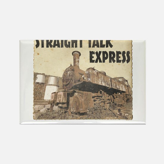 Straight Talk Express Rectangle Magnet