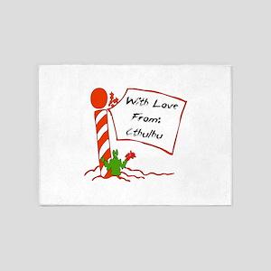 Christmas Love From Cthulhu 5'x7'Area Rug