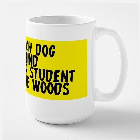 Search dog honor student Large Mug