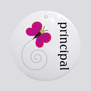 Cute Principal Ornament (Round)
