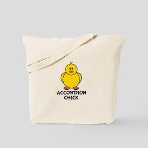Accordion Chick Tote Bag