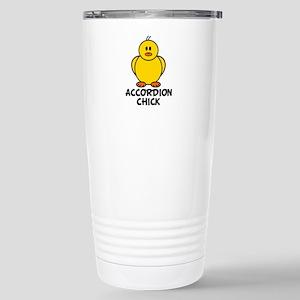 Accordion Chick Stainless Steel Travel Mug