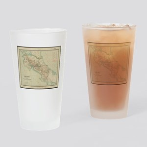 Vintage Map of Costa Rica (1903) Drinking Glass